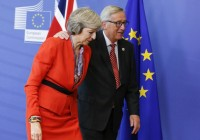 May vede Juncker per accordo su Brexit