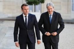 Emmanuel Macron e Paolo Gentiloni