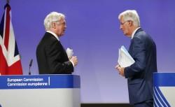 David Davis e Michel Barnier