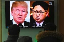 Donald Trump e Kim Jong-Un sulle tv di Seul