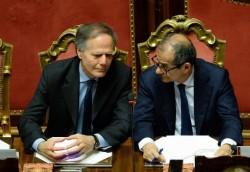 Enzo Moavero Milanesi e Giovanni Tria
