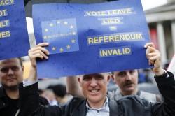 Manifestanti contro la Brexit