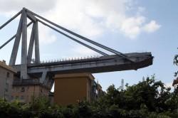 Il viadotto Polcevera crollato a Genova