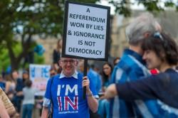 Una manifestazione contro la Brexit