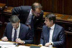 Fraccaro, Bonafede e Conte
