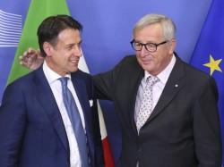 Giuseppe Conte e Jean-Claude Juncker