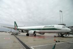 Un aereo della flotta Alitalia