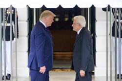 Donald Trump e Sergio Mattarella