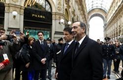 Giuseppe Conte e Beppe Sala in Galleria