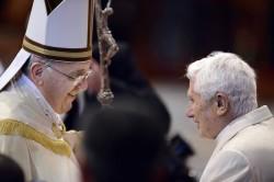 Papa Francesco e il papa emerito Benedetto XVI