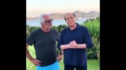 Flavio Briatore con Silvio Berlusconi