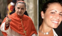 Angelo Becciu e Cecilia Marogna