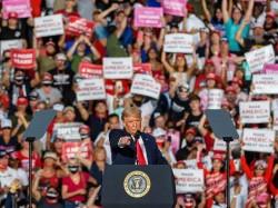 Donald Trump a un comizio