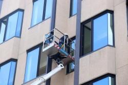 Lavori di ristrutturazione di una facciata