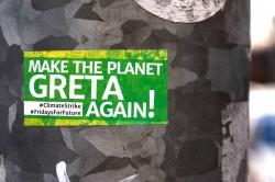 Un adesivo a favore delle azioni per il clima