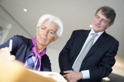 Christine Lagarde e David Sassoli