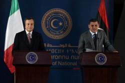 Mario Draghi e Abdul Hamid Dbeibah