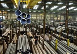 Uno stabilimento siderurgico